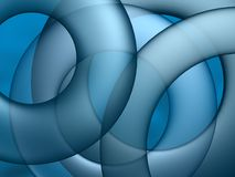 Blue circle abstract Stock Image