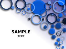 Blue Circle Background Royalty Free Stock Photography