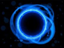 Blue Circle Border Background