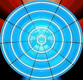 The blue circle. Of deformed windows in an abstract image royalty free stock images