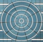 The blue circle of deformed windows stock photos