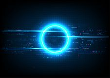 Blue Circle Digital Technology. Blue Circle Digital Abstract Technology Royalty Free Stock Images