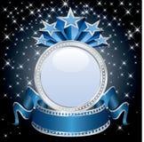 Blue circle display Stock Photo