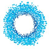 Blue circle of dots Royalty Free Stock Photo