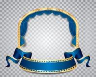 Blue circle elipse transparent Stock Images