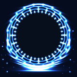 Blue circle emblem bright card Stock Photography