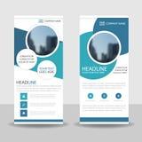Blue Circle enroulent la conception de bannière d'insecte de brochure d'affaires, fond géométrique d'abrégé sur présentation de c illustration de vecteur