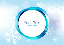 Blue circle frame Stock Photography
