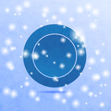 Blue circle illustration Stock Photos