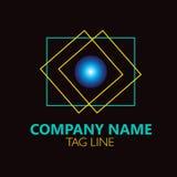 Blue Circle Logo Design Photographie stock
