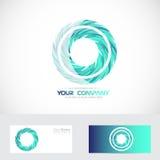 Blue circle logo royalty free illustration
