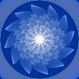 Blue circle mandala in optical art style for spiritual training and meditation Royalty Free Stock Photography
