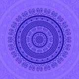 Blue Circle merletta l'ornamento Immagini Stock Libere da Diritti