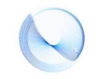 Blue circle in motion, rotating Stock Image
