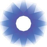 Blue Circle-Ontwerp Vector Rond Ontwerp Royalty-vrije Illustratie