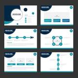 Blue circle presentation templates Infographic elements flat design set for brochure flyer leaflet marketing Royalty Free Stock Photography