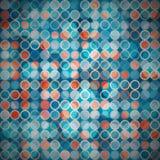 Blue circle seamless pattern Stock Photography