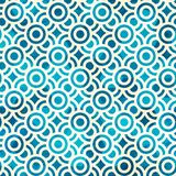 Blue circle seamless pattern with grunge effect Royalty Free Stock Images