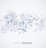 Blue circle sparkles on white blur background Stock Photos