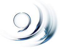 Blue circle in speedy motion, rotating stock illustration