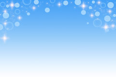 blue circle and star abstract background Royalty Free Stock Photography