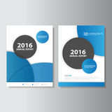 Blue circle Vector annual report Leaflet Brochure Flyer template design, book cover layout design, Abstract Blue presentation Stock Image