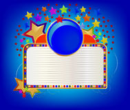Blue Circle With White Board Abstract Background Royalty Free Stock Images
