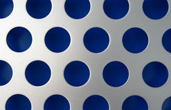 Blue Circles. Metal Circles showing blue paint Stock Photos