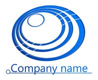 Blue circles 3D logo. For business or company Stock Photos