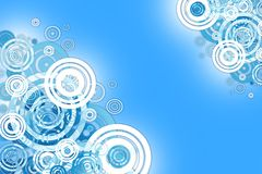 Blue Circles Abstract Royalty Free Stock Photos