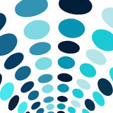 Blue circles arch abstract background Stock Image