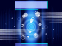 Blue Circles Background Shows Glow And Rectangles Stock Photos