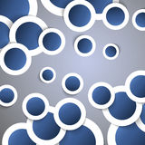 Abstract Background. Blue circles with drop shadows - Abstract Background Illustration in Freely Scalable & Editable Vector Format stock illustration