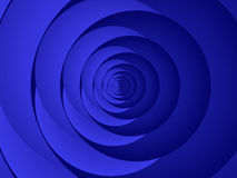 Blue circles, fractal41a Royalty Free Stock Images