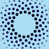 Blue circles frame Royalty Free Stock Photography