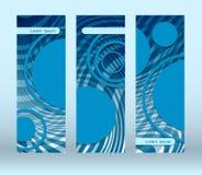 Blue circles futuristic flyer Stock Images