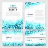Blue circles identity-1 Stock Image