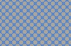 Blue Circles Multiple X Abstract Design Pattern stock illustration