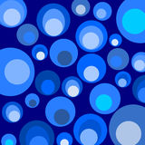 Blue circles pattern backgroun Royalty Free Stock Photo