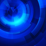 Blue circles of rectangular Royalty Free Stock Image