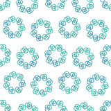 Blue circles of rings Royalty Free Stock Photos