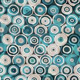 Blue circles seamless pattern with glass effect Stock Photo