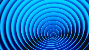 Blue circles spiral shape, optical illusion. Abstract pattern stock photo
