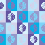 Blue circles and squares. Retro circles and squares in blue and purple cool tones Royalty Free Illustration