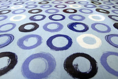 Blue circles tablecloth background Stock Photography