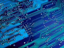 A blue circuit. Board stock photography