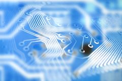 Blue circuit Royalty Free Stock Photos