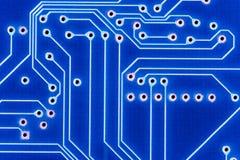 Blue circuit. Background:  blue chip circuit concept Stock Image