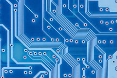 Blue circuit Royalty Free Stock Image