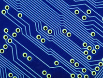Blue circuit board Stock Photos